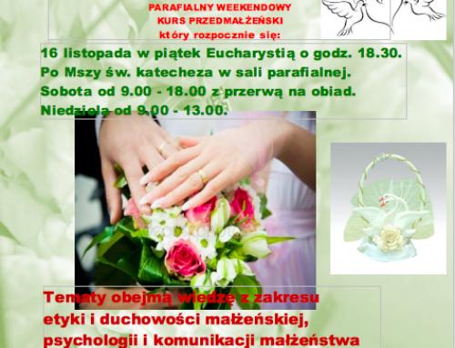 Kurs przedmałżeński w sanktuarium